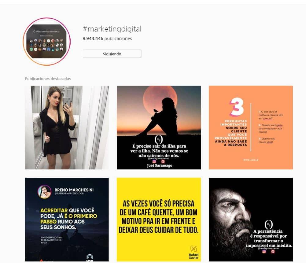 hashtags em instagram